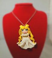 Collana in fimo, con la Principessa Serenity/Sailor Moon