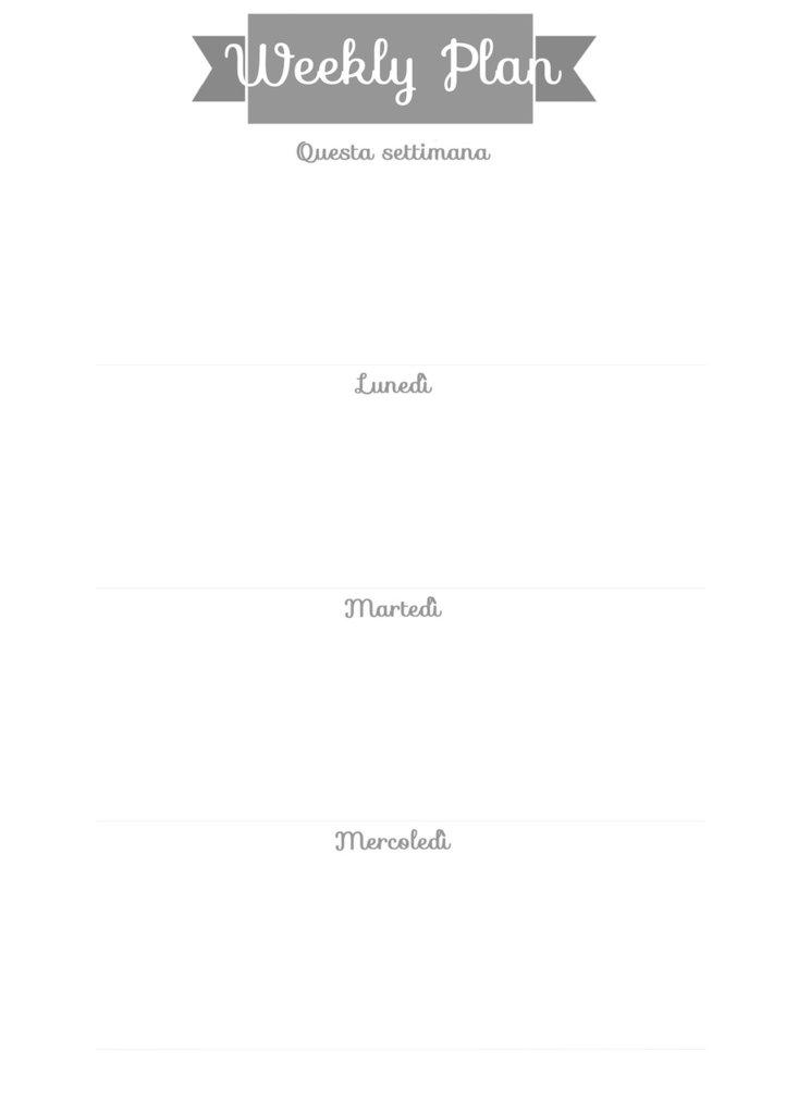 Refill Agenda A5 Settimana x stampa