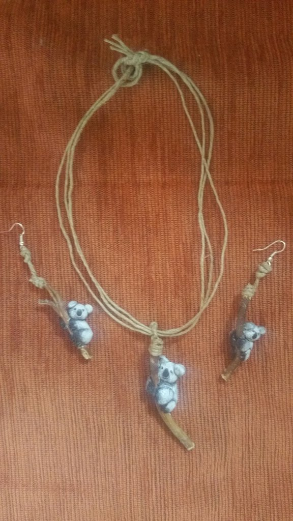 Koala pendenti e collana