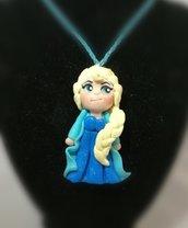 Collana in fimo, con Elsa(Frozen)