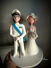 Sposini personalizzati, cake topper in porcellana fredda
