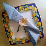 set  8 porta tovagliolo a uncinetto margherite in cotone - decorazioni tavola pasqua - idea regalo