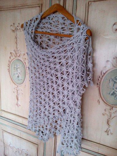 scialle da sera con micro paillettes all'uncinetto scialle elegante - scialle matrimonio- stola sposa grigio argento