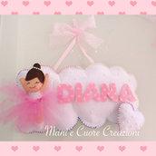 Fiocco nascita Ballerina
