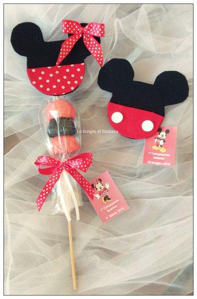 Bomboniera Topolino/Minnie spiedino marshmallow
