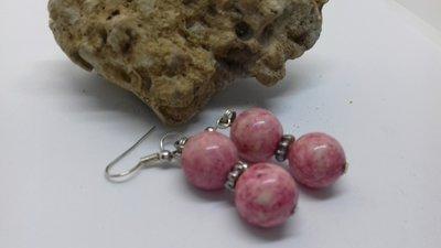 Orecchini pietra lavica rosa
