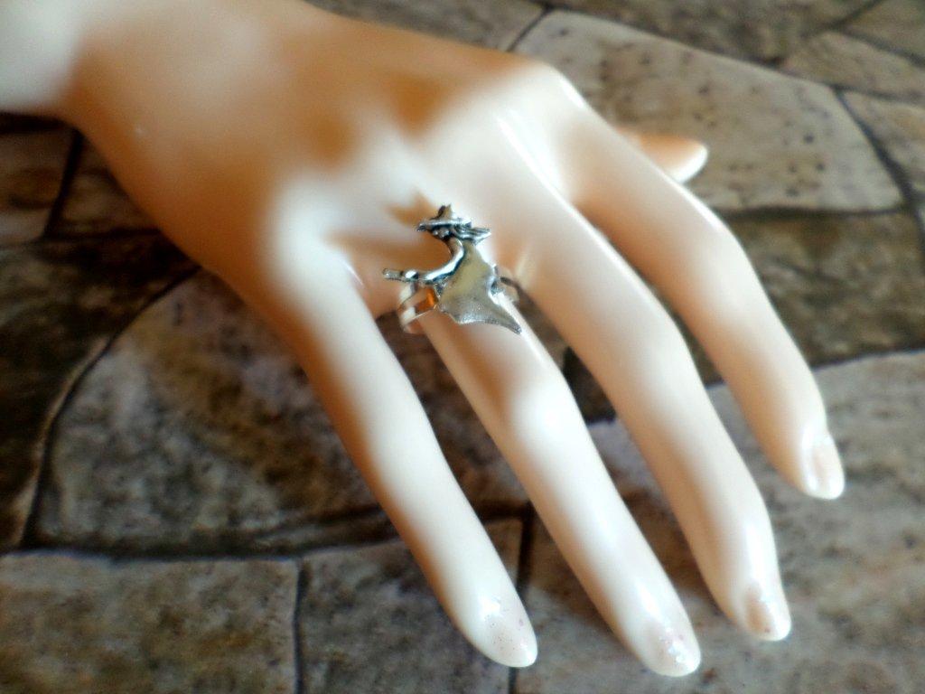 anello regolabile argento strega witch wiccan bijoux