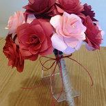 Bouquet rose carta Rosse e Rosa