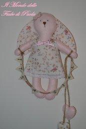 Coniglietta in pannolenci annuncio nascita