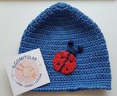 Cappellino di cotone coccinella