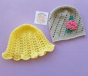 Cappellino di cotone giallo