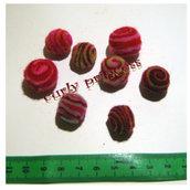 Lotto 8 palline in feltro variegate