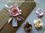 Partecipazionre / Matrimonio / Rustico / Shabby  chic / Rose.