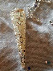 Ciondolo argento luminoso..in omaggio ciondolo con onoziali nome o segno zodiacale