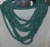 Collana handmade realizzata in cotone