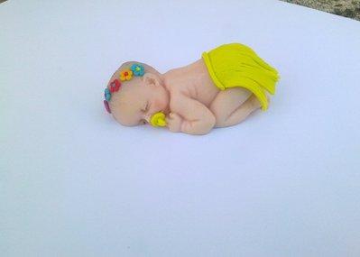 Bimba in fimo bomboniera segnaposto nascita battesimo