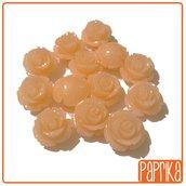 Perlina Rosa forata 12mm Rosa-Aranciopallido