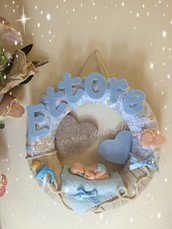 Fiocco nascita bebè azzurro