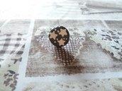 Anello regolabile biscotto con stelle in fimo