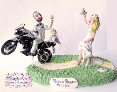 """Cake topper matrimonio/anniversario """"Cuori rombanti"""" (personalizzabile)"""