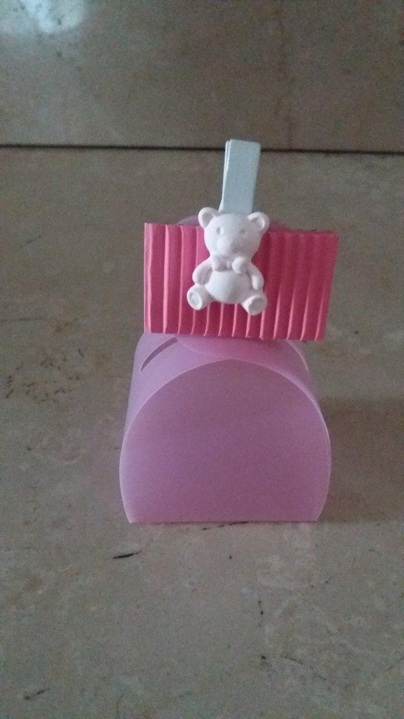 Scatola porta confetti in plastica