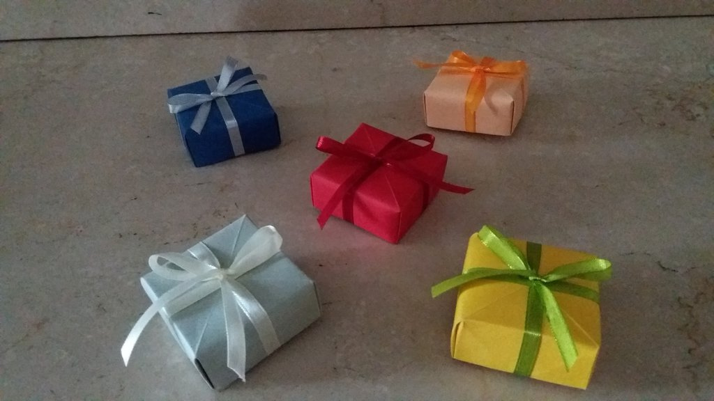Scatola in origami