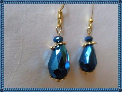 Orecchini goccia blu elettrico