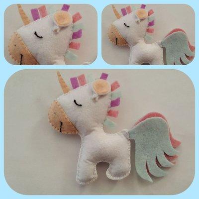 Unicorno pannolenci decorazione