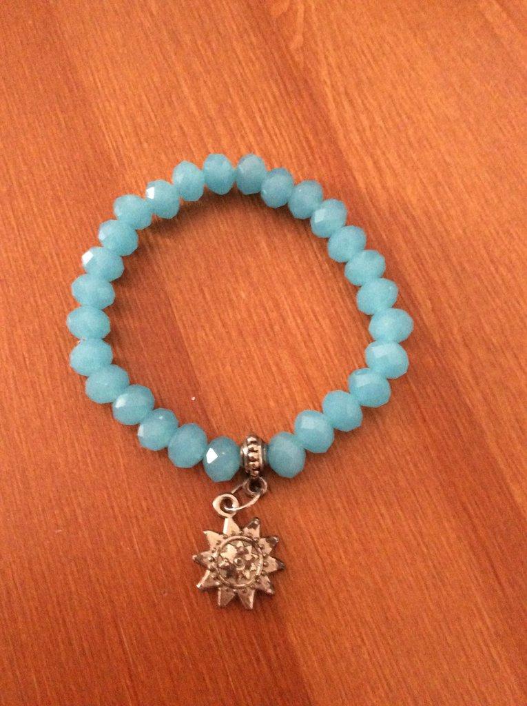 Braccialetto Azzurro con pendente