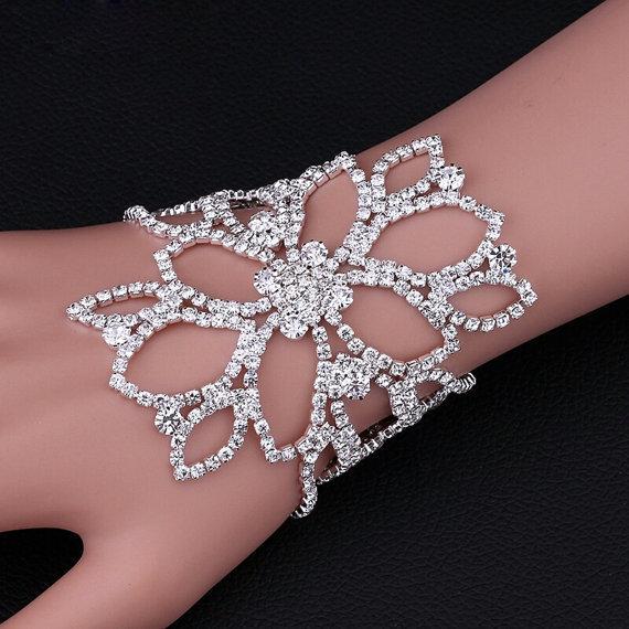 Bracciale-Cavigliera per donna in cristallo e acciaio colore argentato