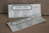 Partecipazione matrimonio tema biglietto aereo