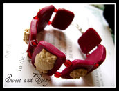 OWL BURGUNDY BANGLE BRACELET