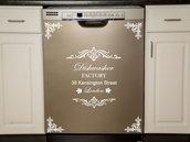 "Adesivo per lavastoviglie ""Dishwasher"""