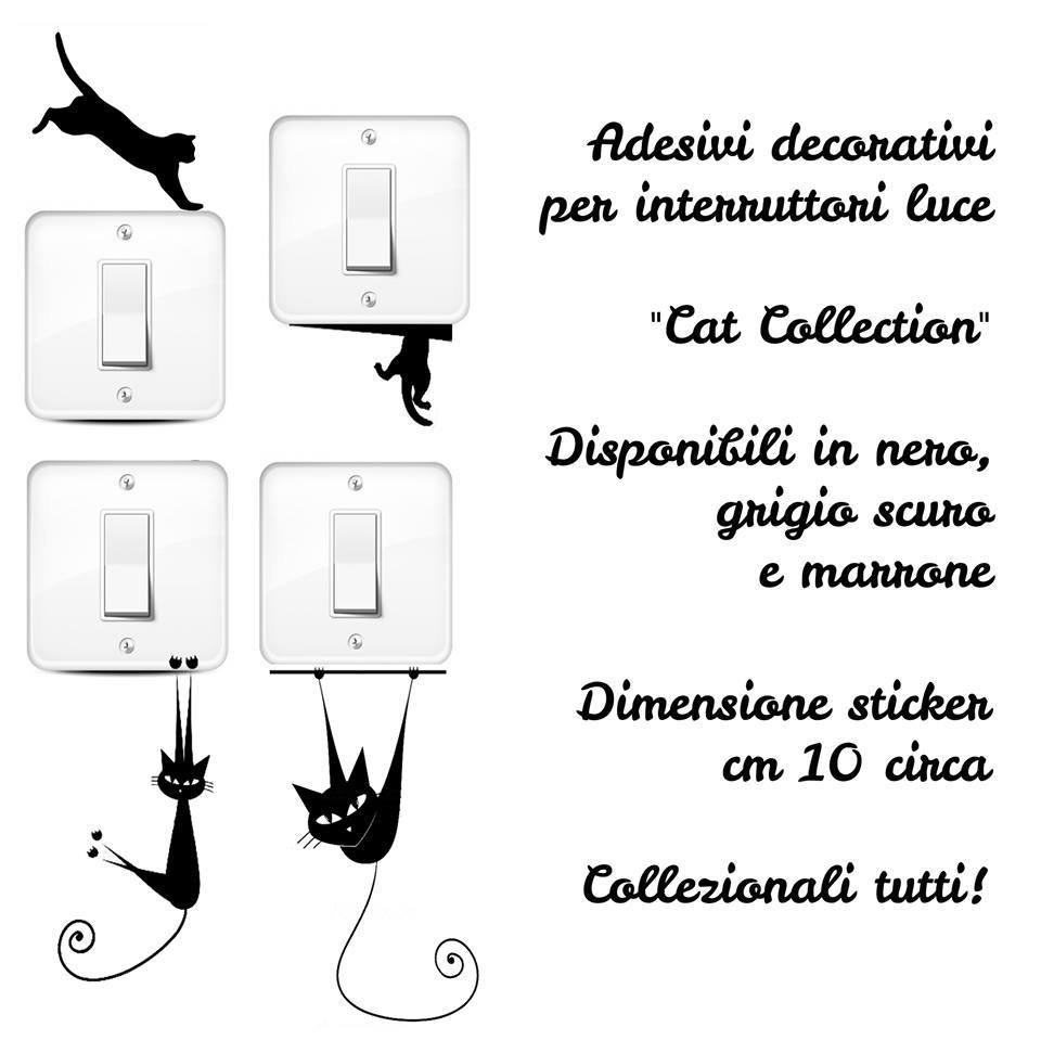 Gattini stickers per interruttori