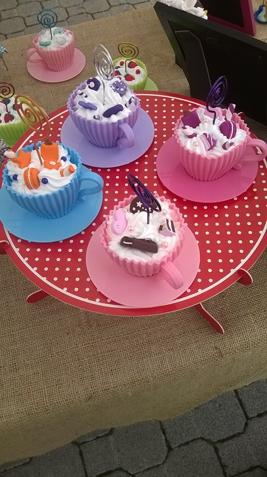 Cupcake portafoto realizzati in fimo