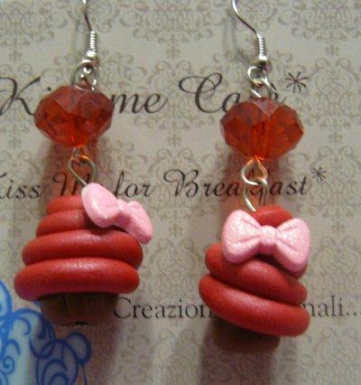 orecchini cupcake gioielli orecchini di kiss me