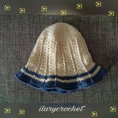 Cappello all'uncinetto in cotone