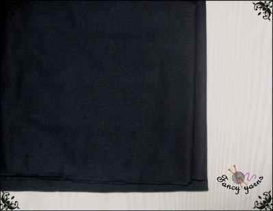 Tessuto colore nero, cm. 50 per 155 cm di altezza, 48% cotone, 47% modal, 5% lycra