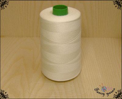 Filo per cucire 100%  cotone, 230 grammi colore ecrù chiaro, alta qualità