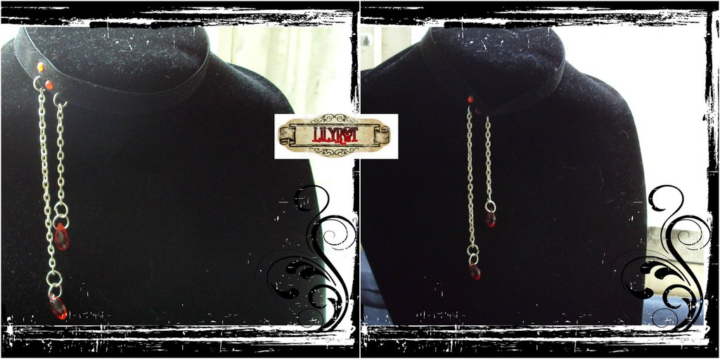 collarino collare velluto vampiro sangue githic vittoriano steampunk