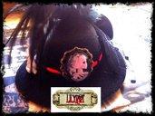 cappellino cameo gothic vittoriano steampunk pizzo piume scheletro rosa nero