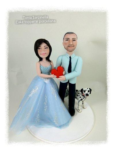 Cake topper sposi con dalmata