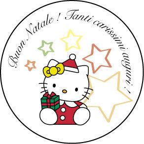 Etichetta di Natale Hello Kitty