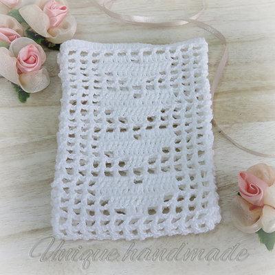 Sacchetto bianco crochet