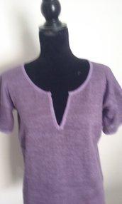 Maglietta donna lino maglia