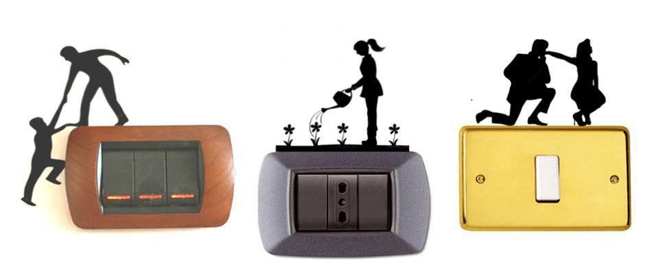 """Stickers per interruttori """"Ominidi"""""""