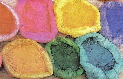 tintura su tessuti con colori NATURALI