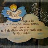 Targhetta in legno preghiera angelo custode