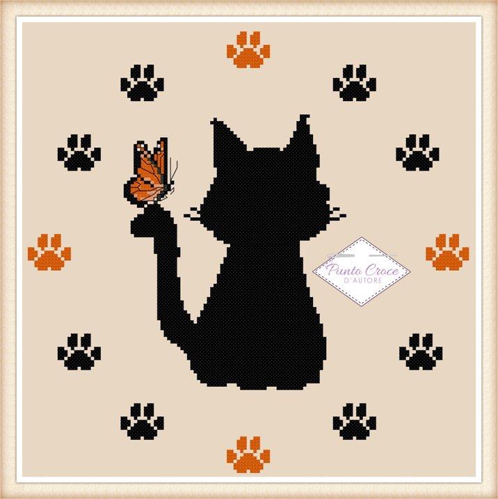 Schema punto croce orologio gatto libri schemi e corsi for Orologio punto croce schemi gratis