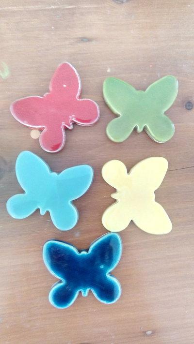 Farfalle e quadrifogli ceramica